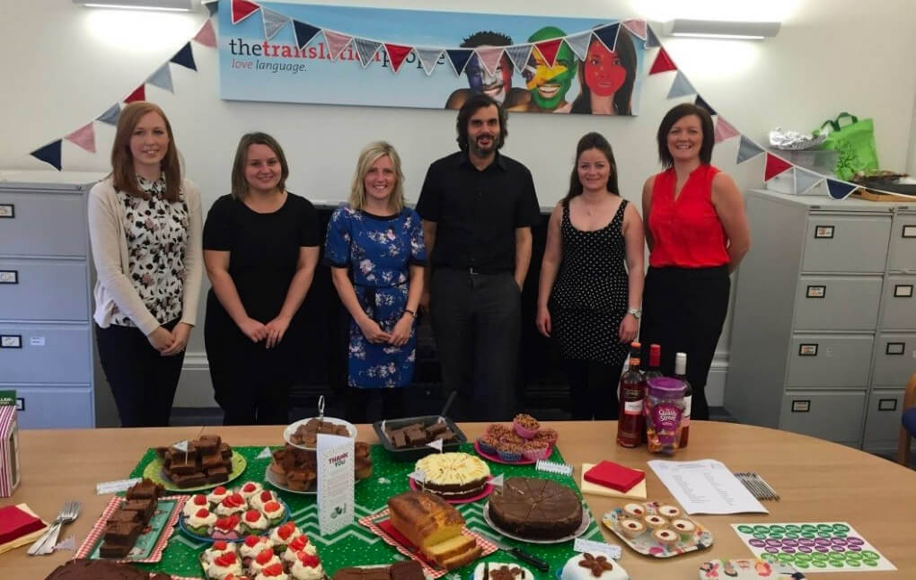 """The Translation People take part in """"The world's biggest coffee morning"""""""