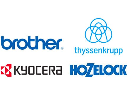 Graphic - Client Logos for Brother, Kyocera, Hozelock, Thyssenkrupp